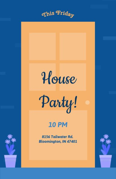 Flyer Maker for House Parties with Front Porch Design 340c
