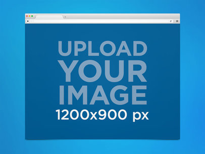 Firefox Browser Mockup in a MacOS Desktop 21297
