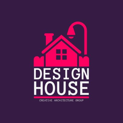 Online Logo Maker for Architectural Studios with House Icon 1282b