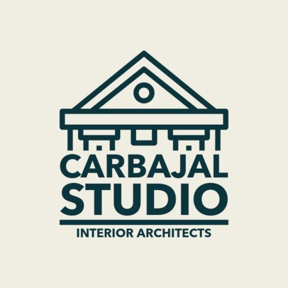 Custom Logo Maker for Architectural Studios with Centered Alignment 1282e