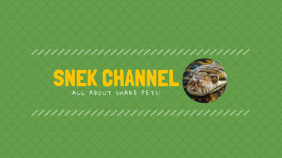 YouTube Channel Art Maker with Snake Images 401b