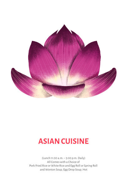 Online Flyer Maker for Asian Food Restaurants 435c