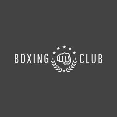 Boxing Club Logo Maker 1297b