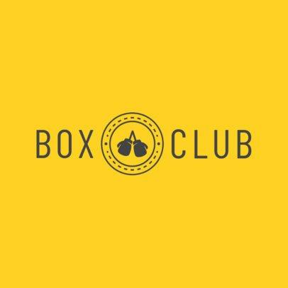 Boxing Gym Logo Maker 1297e