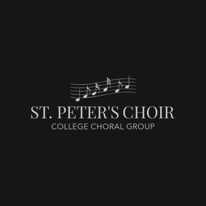Online Logo Maker for Choral Groups 1308c