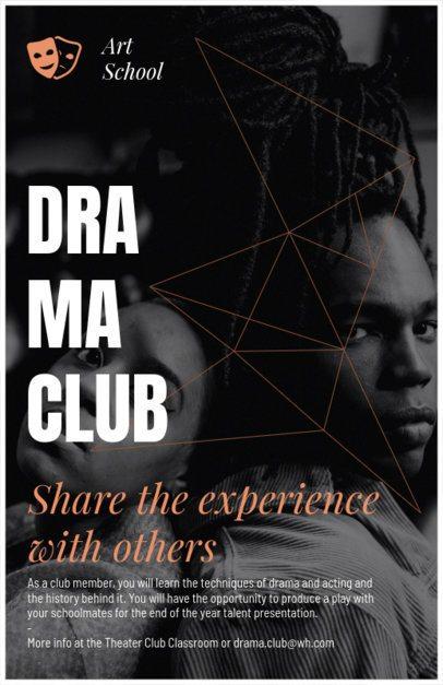 High School Drama Club Flyer Maker 433