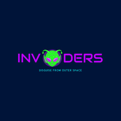 Halloween Invasion Logo Maker 1305c