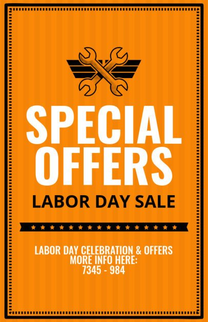 Labor Day Sale Offers Flyer Template 429d