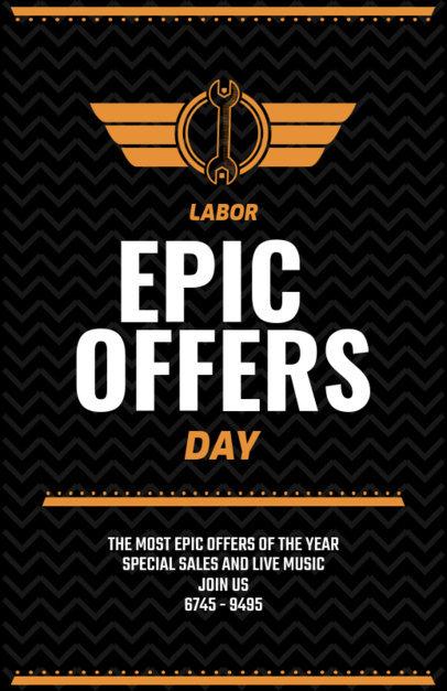 Epic Labor Day Sale Flyer Template 429e