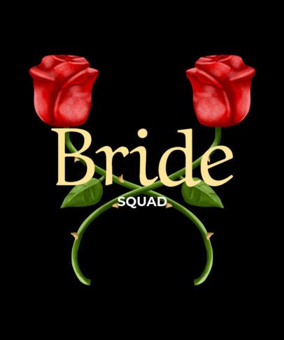 Floral Bride Squad T-Shirt Maker 436c