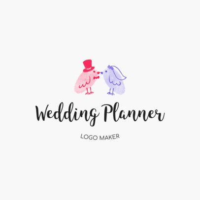 Logo Design Template for Wedding Planner Business 1274