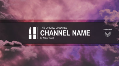 Official Beauty Guru Channel Banner Template 449