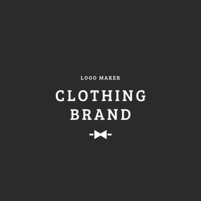 Formal Clothing Brand Logo Maker 1315b