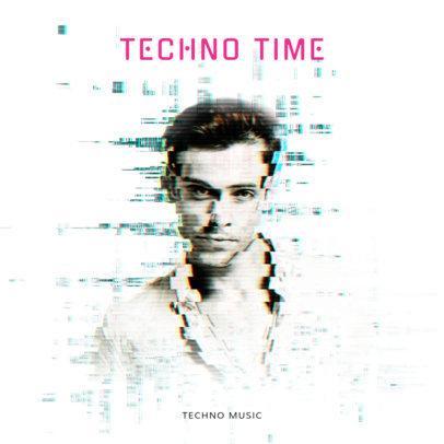 Techno Time Album Cover Template 473e