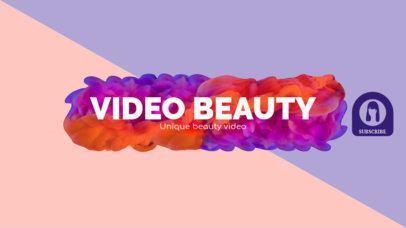 YouTube Beauty Influencer Channel Banner Maker 451c