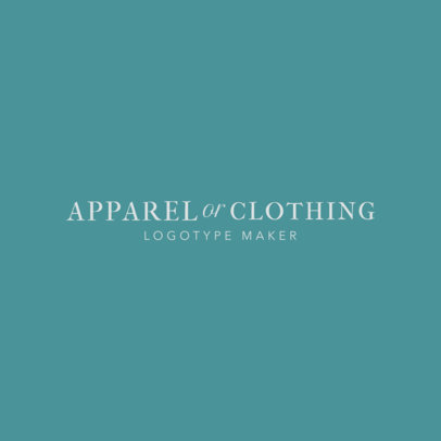 Logo Maker for Apparel Brand 1338