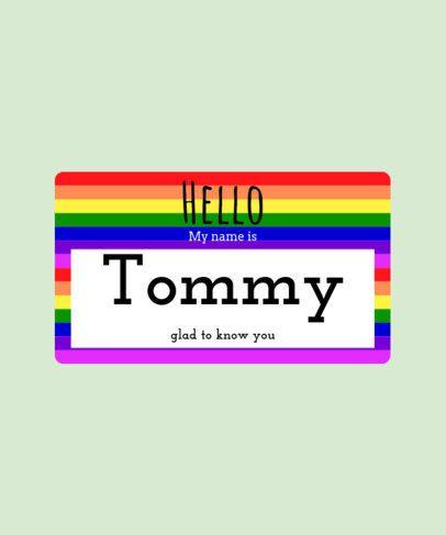 Custom Name Tag T-shirt Design Template 387d