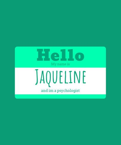 Hello Name Tag T-shirt Design Maker 387e