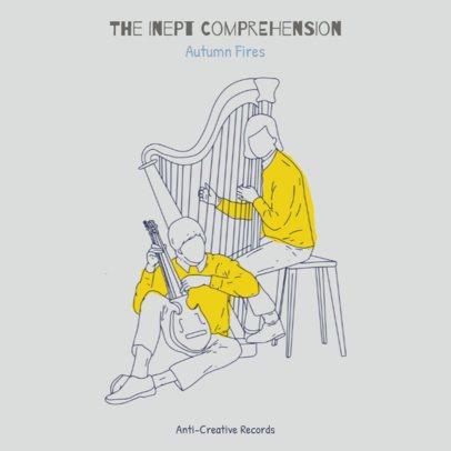 Folk Music Album Cover Design Template 471