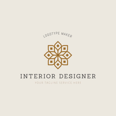 Easy Interior Design Logo Template 1325b