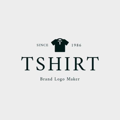 Minimalist T-Shirt Brand Logo Template 1329