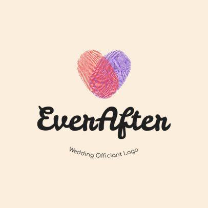 Logo Design Maker for Wedding Officiants 1274a