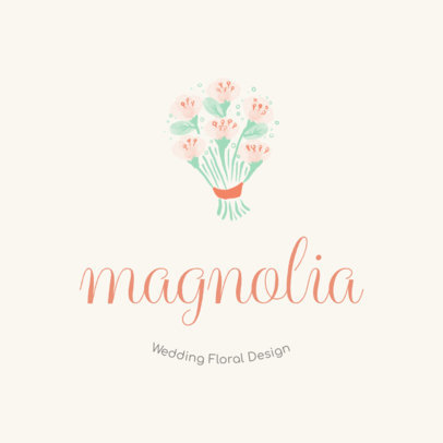 Wedding Floral Design Logo Maker 1274b