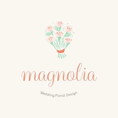 Wedding Floral Design Logo Maker 1274b