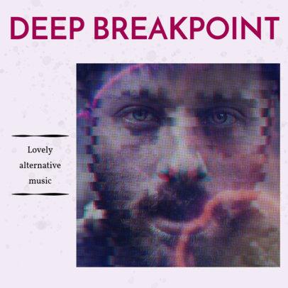 Album Cover Design Template for Deep Alternative CD 467 c