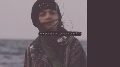 Youtube Channel Banner Design Maker for Expressive Beauty Channel 455e