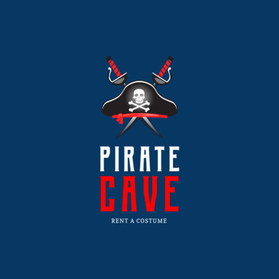 Pirate Costume Rental Logo Design Template 1320c
