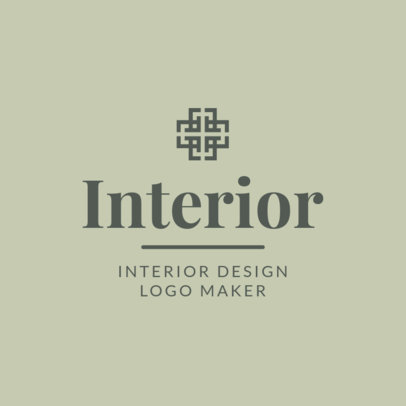 Interior Designer Logo Design Template 1330d