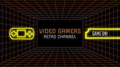 Retro  Gaming Channel Banner Maker 463c