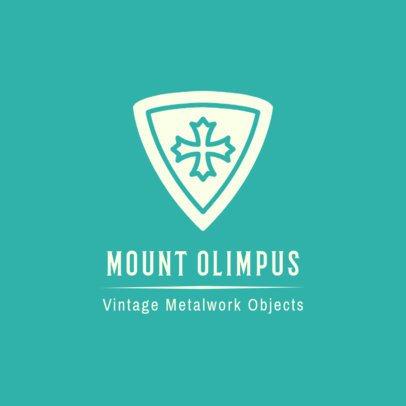 Vintage Metalwork Shop Logo Design Template 1319a