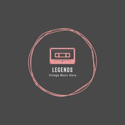 Logo Design Maker for Vintage Music Store 1319e