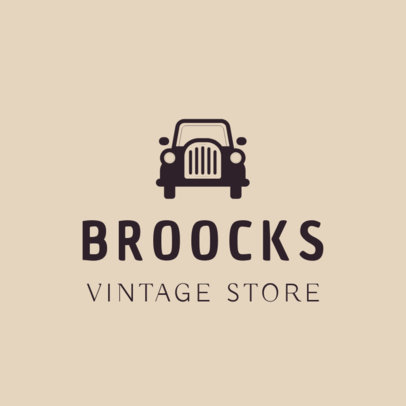 Logo Maker Template for Vintage Store 1326a