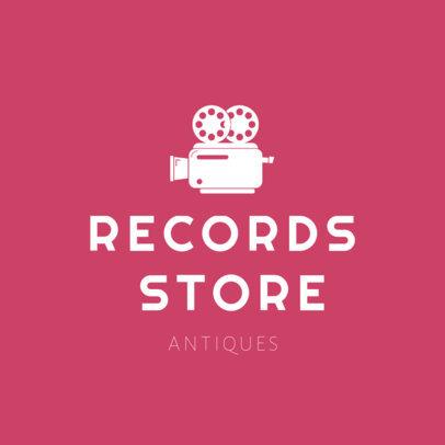 Records Store Logo Design Template 1326b