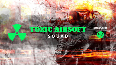 Youtube Channel Banner Template for Gaming Squad 548e