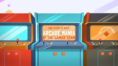 Youtube Banner Template for Arcade Gaming Channel  #457