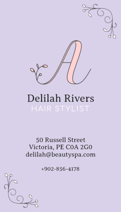 Cute Vertical Business Card Maker for Beauty Businesses 485