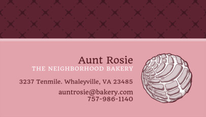 Bakery Business Card Maker 493