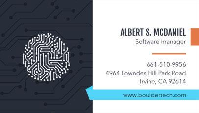 Technology Business Card Template 513