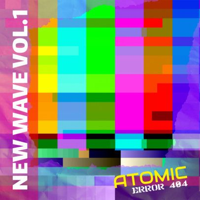 Colorful Album Cover Maker for New Wave Music 476e