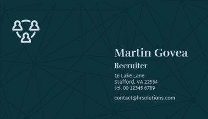 HR Recruiter Business Card Template 515b