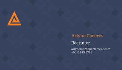 Business Card Maker for Human Resources Department 515e