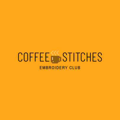 Embroidery Club Logo Design Template 1278b
