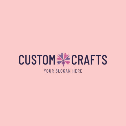 Custom Knitting and Crafts Store Logo Design Maker 1278e
