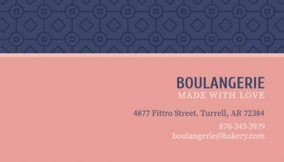Two Color Business Card Template for Bakery 493c
