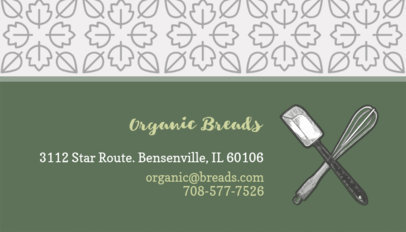 Green Bakery Business Card Maker 493d