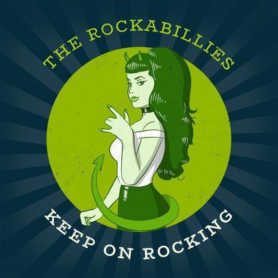 Album Cover Template for Rockabilly CD 478